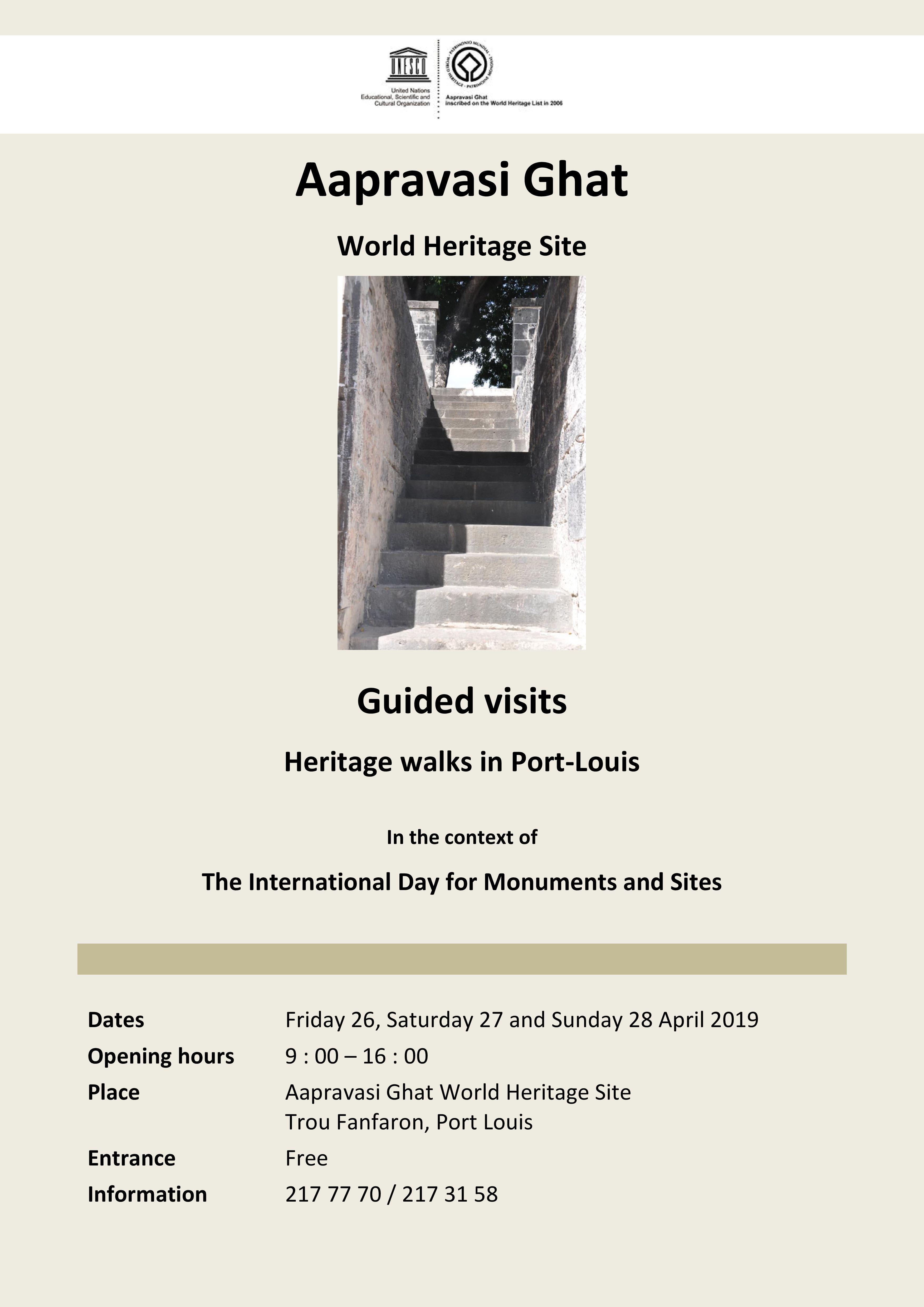 Journée internationale des monuments et des sites - 18 avril 2019