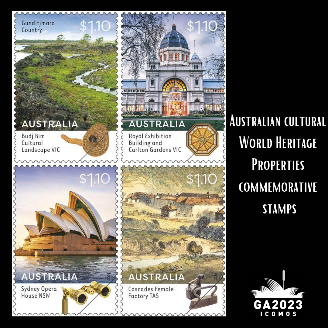 ICOMOS Australia Post Stamp World Heritage Properties