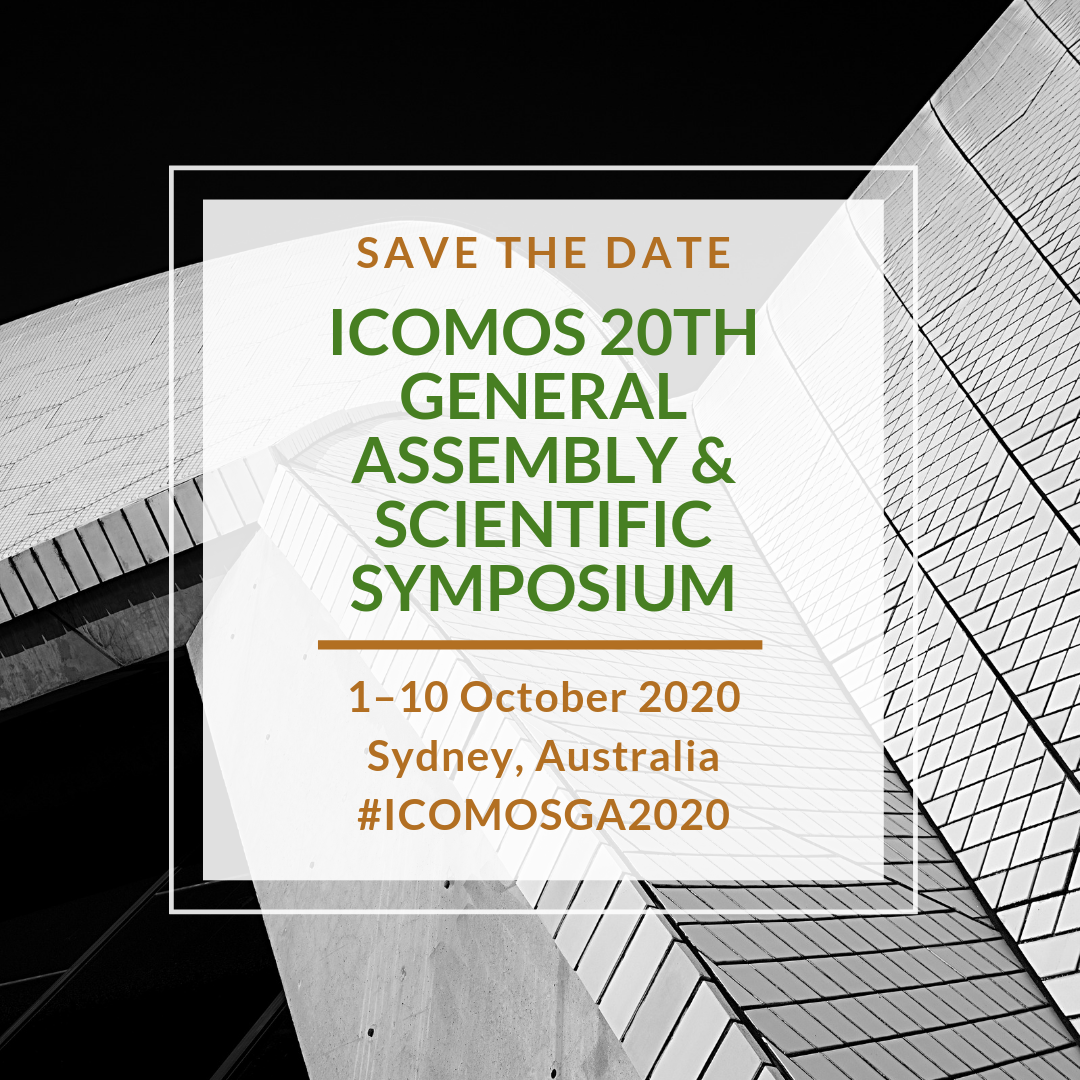 ICOMOS GA 2020 SAVE THE DATE 2