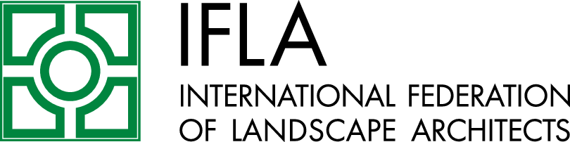 Logo IFLA International Federation of Architects Horizontal