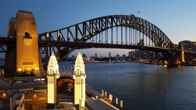 Sydney Harbour Bridge from Luna Park J Siu 2015