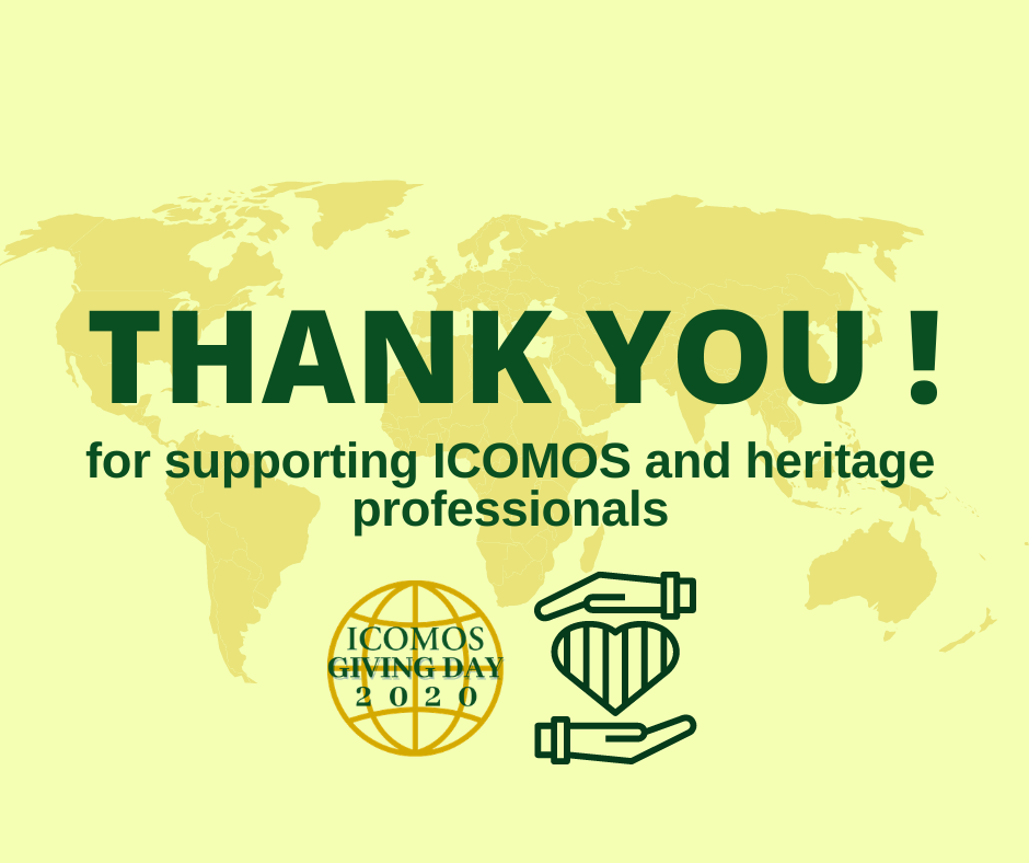 ICOMOS Giving Day TY website