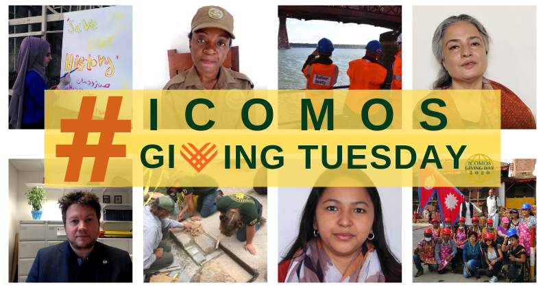 ICOMOS giving day banner final