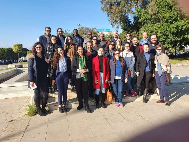 "Participants to the workshop at the ""Rabat, Modern Capital and Historic City: a Shared Heritage"" World Heritage Site"