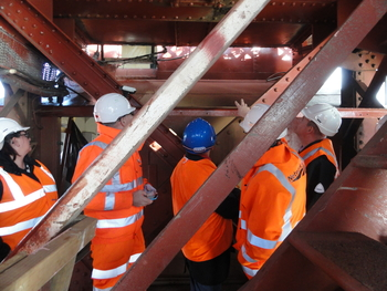 Icomos expert mission on the world heritage site of Forth Bridge, UK, 2014 - copyright Tara Bushe / ICOMOS