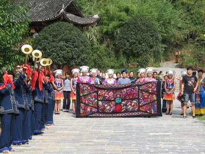 thumb offering sacrifice to heaven traditional tujia trumpets