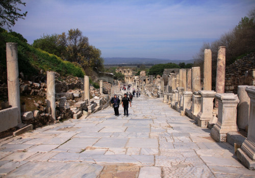 Curetes Street In The Ancient City Of Ephesus Turkey 2019 International Council On Monuments And Sites